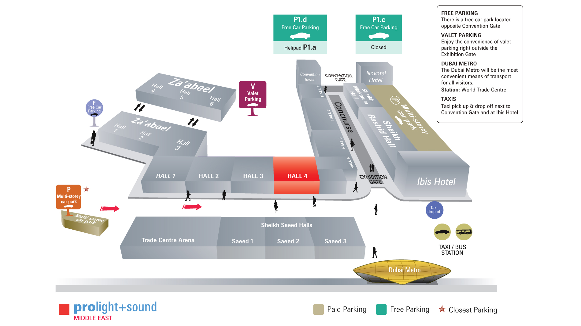 Prolight + Sound Middle East Venue Map