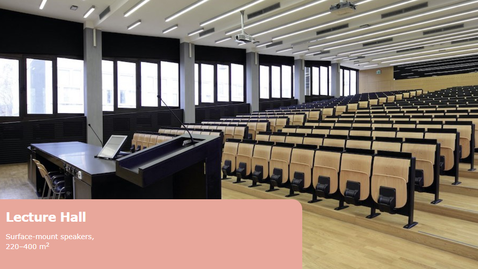 Prolight + Sound Middle East - Project scenarios from University Lecture Hall