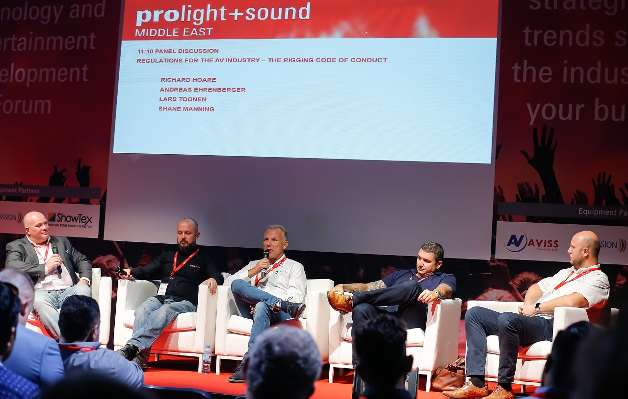Conference and Dante Workshop Prolight + Sound Middle East