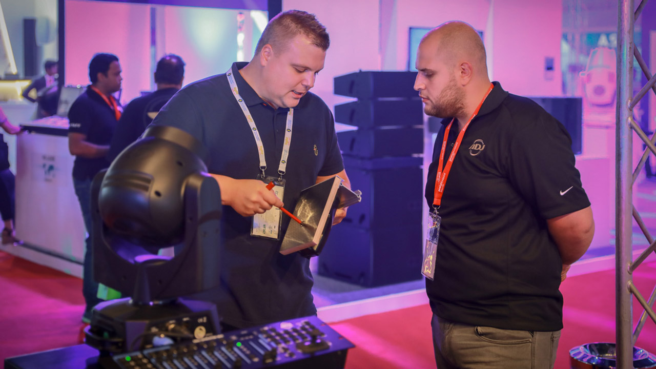 Exhibitors at Prolight + Sound Middle East