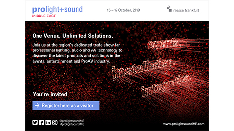 Prolight + Sound Middle East - Generic English E-card