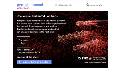 Prolight + Sound Middle East - Personalized E-card