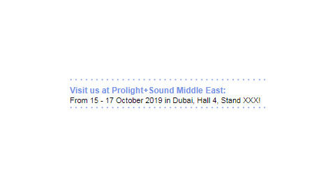 Prolight+Sound Middle East - Email Signature A